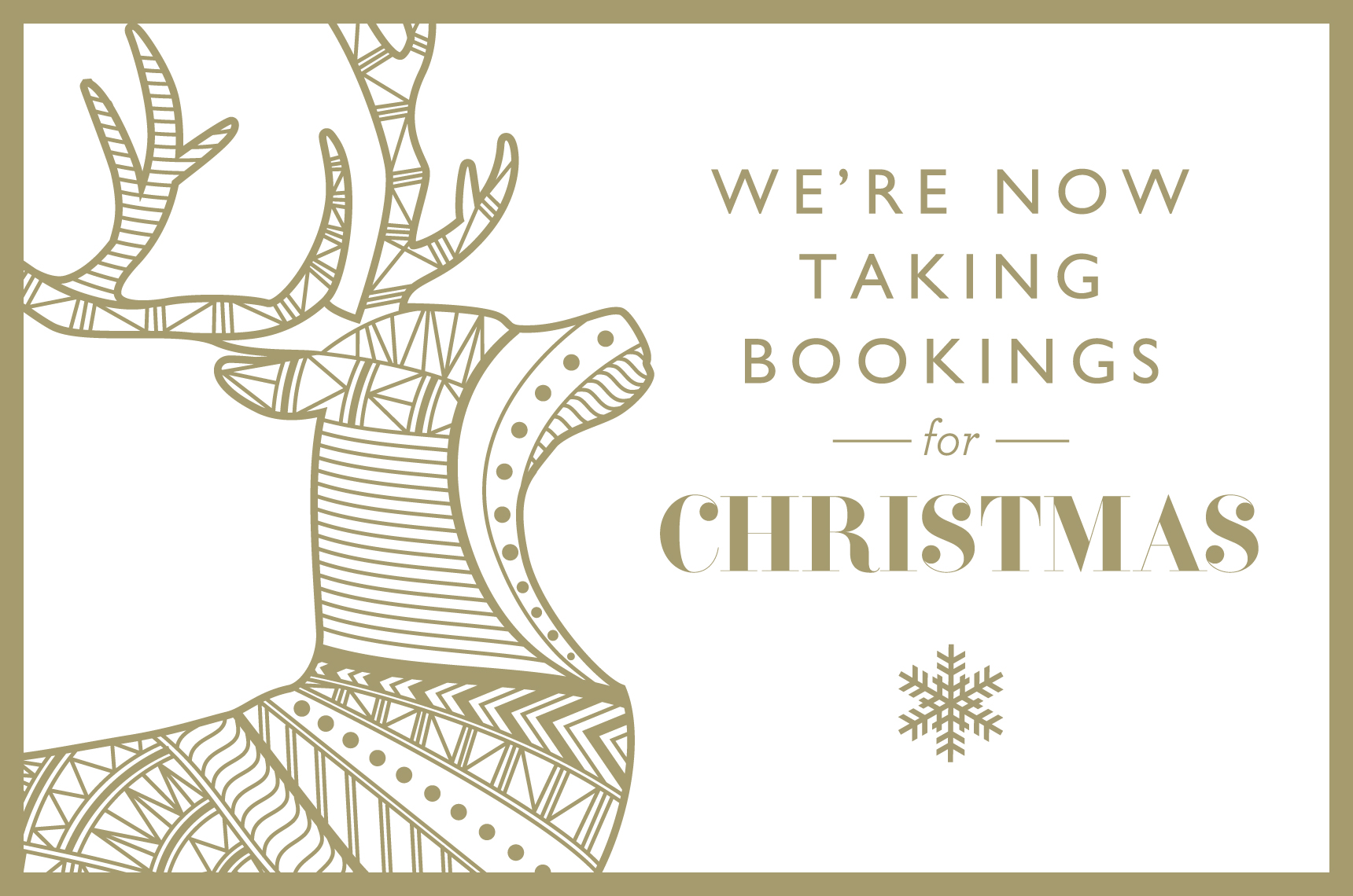 Christmas Prebookings - The Curious Pig in the Parlour